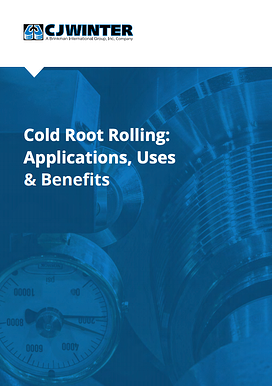 Cold Root Rolling Applications - Cover