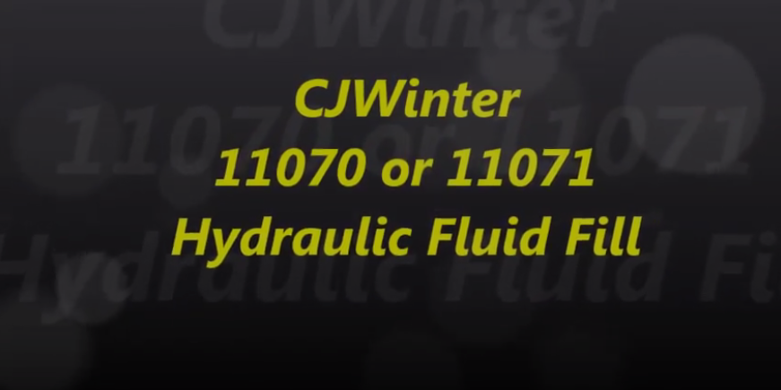 Cold Root Rolling 11070 or 11071 Hydraulic Fluid Fill
