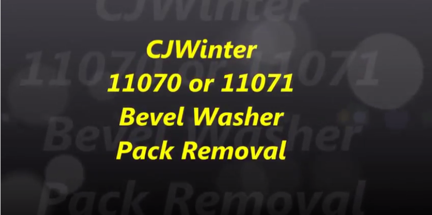 Cold Root Rolling 11070 or 11071 Bevel Washer Pack Removal